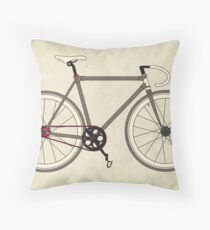 Road Bicycle Throw Pillow