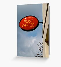 Alconbury Post Office Sign Greeting Card