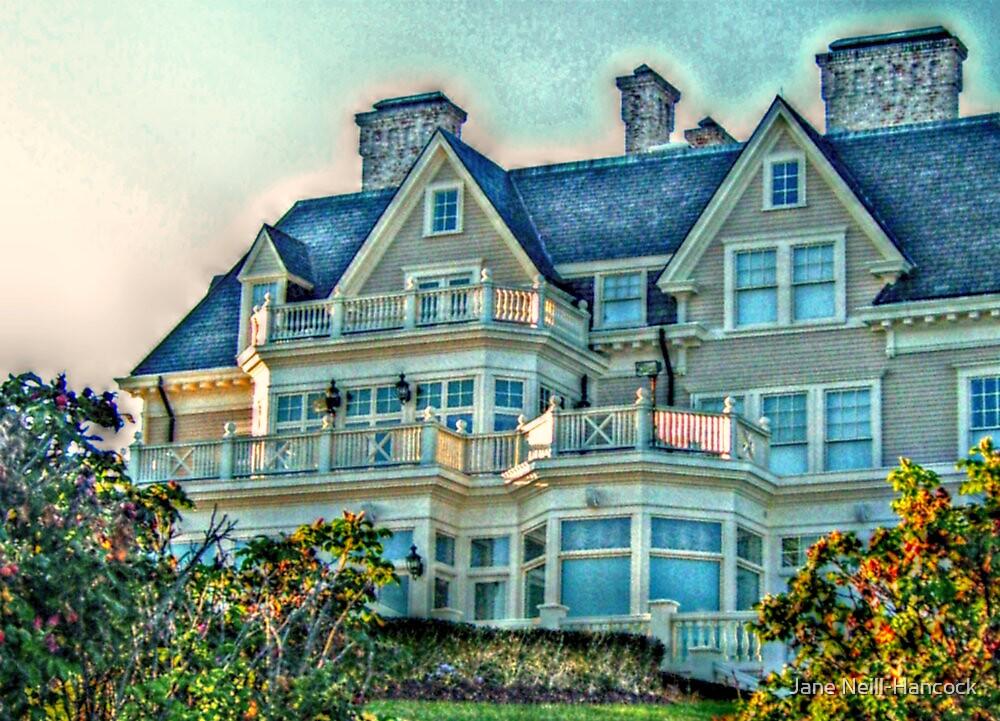 Balconies To Overlook The Ocean, Newport, Rhode Island by Jane Neill-Hancock