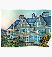 Balconies To Overlook The Ocean, Newport, Rhode Island Poster