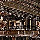 Balcony Above the Ballroom in Browns and Blacks, The Venetian, Garfield NJ by Jane Neill-Hancock