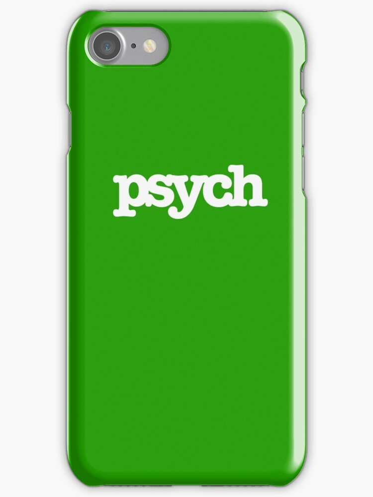 redbubble iphone cases quot psych quot iphone cases amp skins by ecchiisketch redbubble 12847