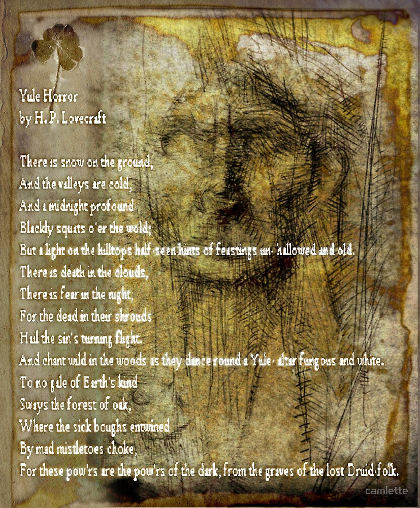 H. P. Lovecraft Yule Horror (Poem) by camlette