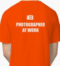 Photographer At Work - Dark Classic T-Shirt