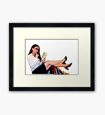 Geeky Pin-Up: Librarian  Framed Print