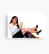 Geeky Pin-Up: Librarian  Canvas Print