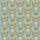 Cowboy Pattern by Amanda Zito