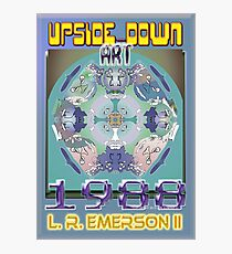 Upside-Down Drawing and Masg Art by 21st Century artist/designer L. R. Emerson II. Photographic Print