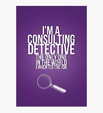 The Only Consulting Detective Photographic Print