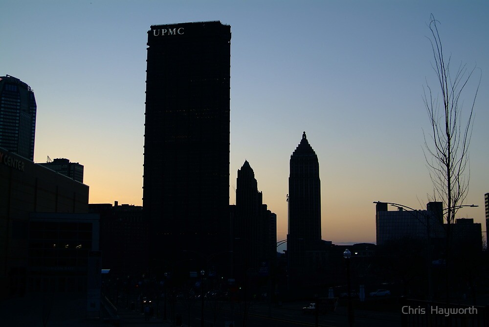 Pittsburgh at dusk by Chris Hayworth