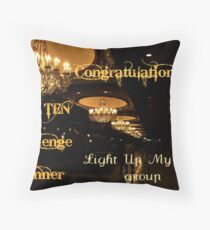 Banner for Challenge - You are a Top Ten Winner Throw Pillow