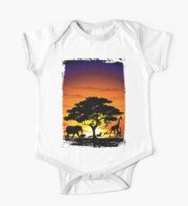 Wild Animals on African Savanna Sunset  Kids Clothes