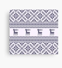 Knit pattern Canvas Print