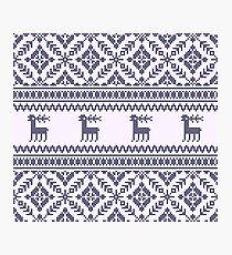 Knit pattern Photographic Print