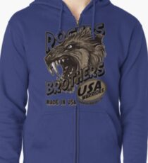 wolf usa warriors by rogers bros Zipped Hoodie