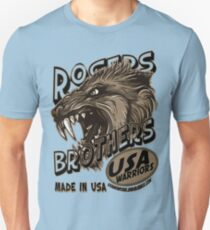 wolf usa warriors by rogers bros Slim Fit T-Shirt
