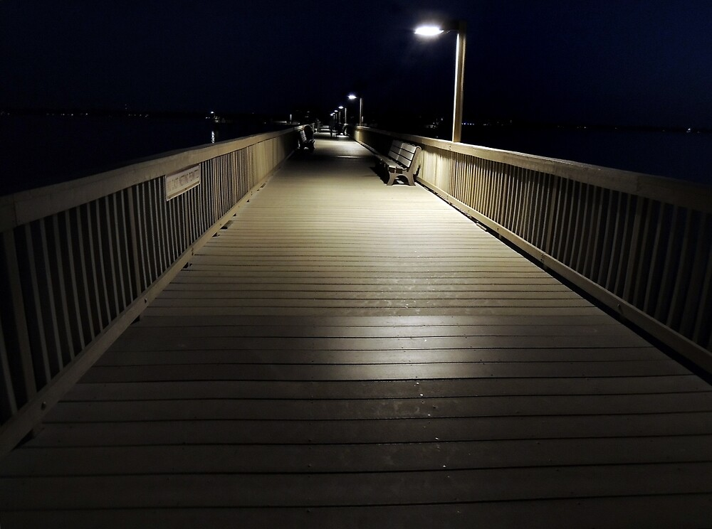 Nighlty Walk on the Boardwalk  by John  Kapusta