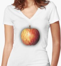 Apple by rafi talby Women's Fitted V-Neck T-Shirt