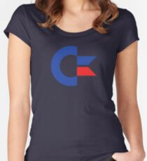 Commodore C64 Retro Classic Symbol Women's Fitted Scoop T-Shirt