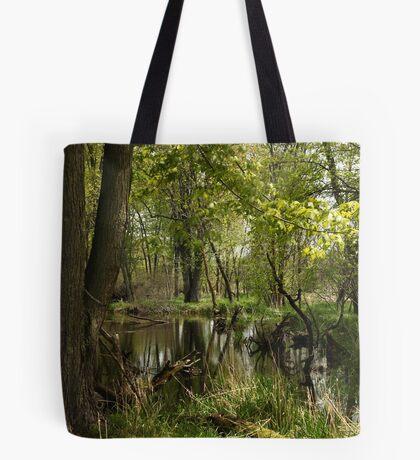 White River Landscape 6748 Tote Bag
