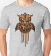 Steampunk Owl Vintage Style Unisex T-Shirt