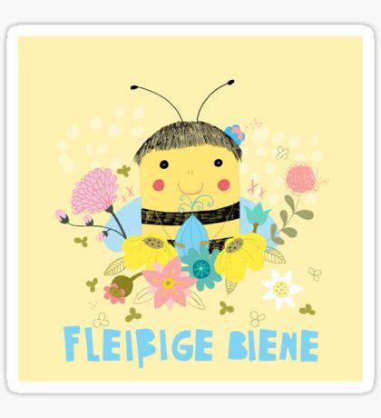 Fleißige Biene Sticker
