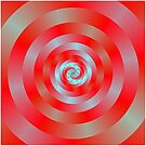 Red and blue Circular Spiral by Objowl