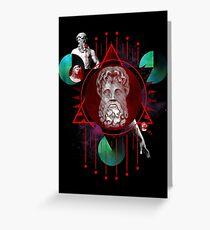 Geometric Gods Greeting Card