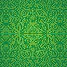 Etnic Pattern Green by elangkarosingo