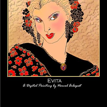 'Evita' Titled Greeting Card or Small Print by arbogast0657