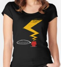 ...It wa a dark and stormy night.. Women's Fitted Scoop T-Shirt