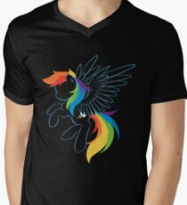 Colors of the Rainbow Men's V-Neck T-Shirt