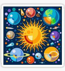 Solar System Infographics Sticker