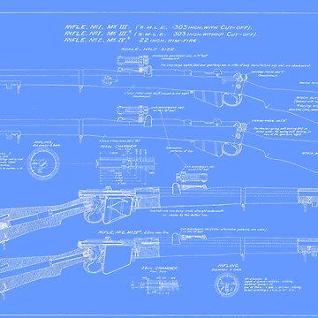 303  Lee Enfield Rifle Blueprint (light blue) by NemesisGear