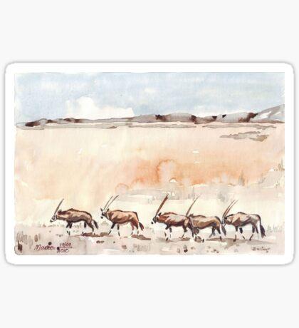 Gemsbuck in the Kalahari Sticker