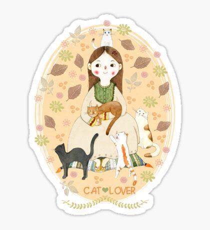 Cat Lover Sticker