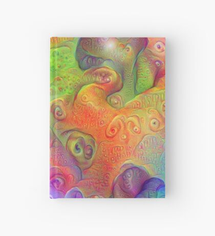 DeepDream Tomato Steelblue 5x5K v10 Hardcover Journal