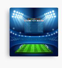 Football Stadium Background Canvas Print
