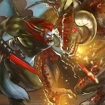 Angry Demon Matt vs Behemoth Overlord by borgking001a