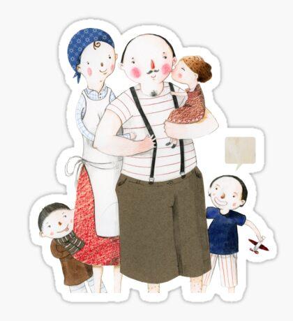 Family Portrait V Sticker