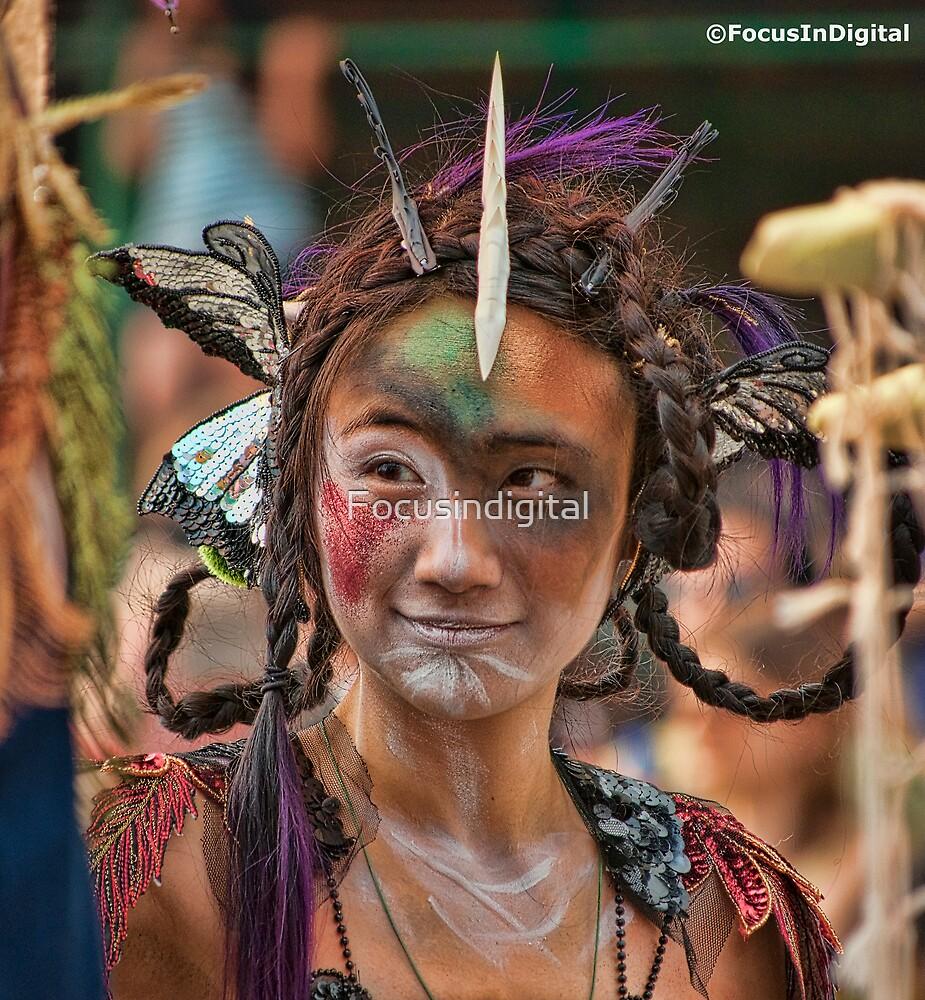 Many Faces Of The Coney Island Mermaid Parade -2 by Focusindigital