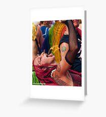 Many Faces Of The Coney Island Mermaid Parade -5 Greeting Card