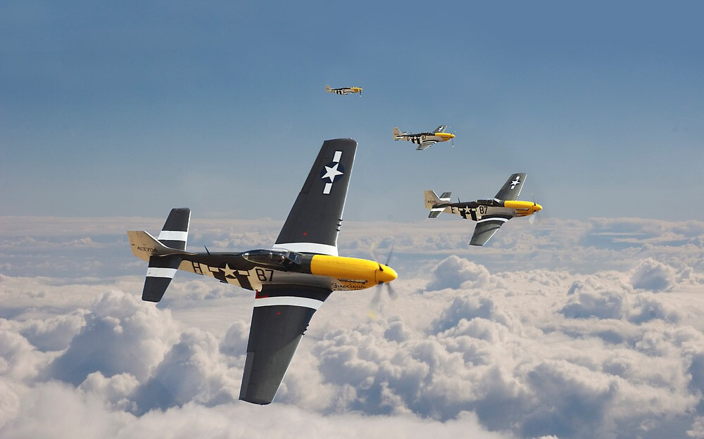 P51 Mustang - Mission Complete by Pat Speirs