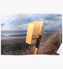 lifebuoy box on beal beach in kerry Poster