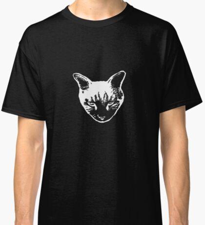 Cat Head tee white version Classic T-Shirt