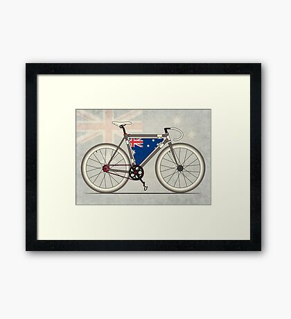 I love My Bike and Australia Framed Print