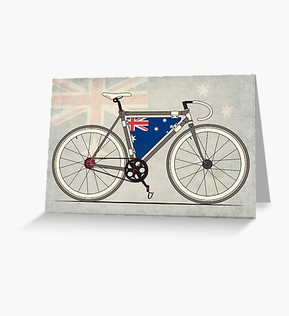 I love My Bike and Australia Greeting Card
