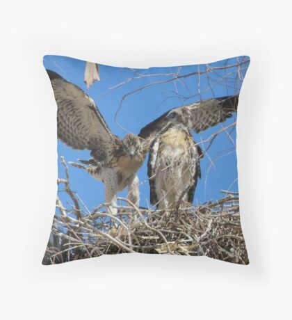 Red-tailed Chick #2 2012 (Wings wide) Throw Pillow