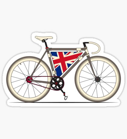 Love Bike, Love Britain Sticker