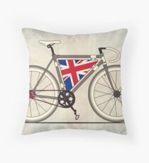 Love Bike, Love Britain Throw Pillow